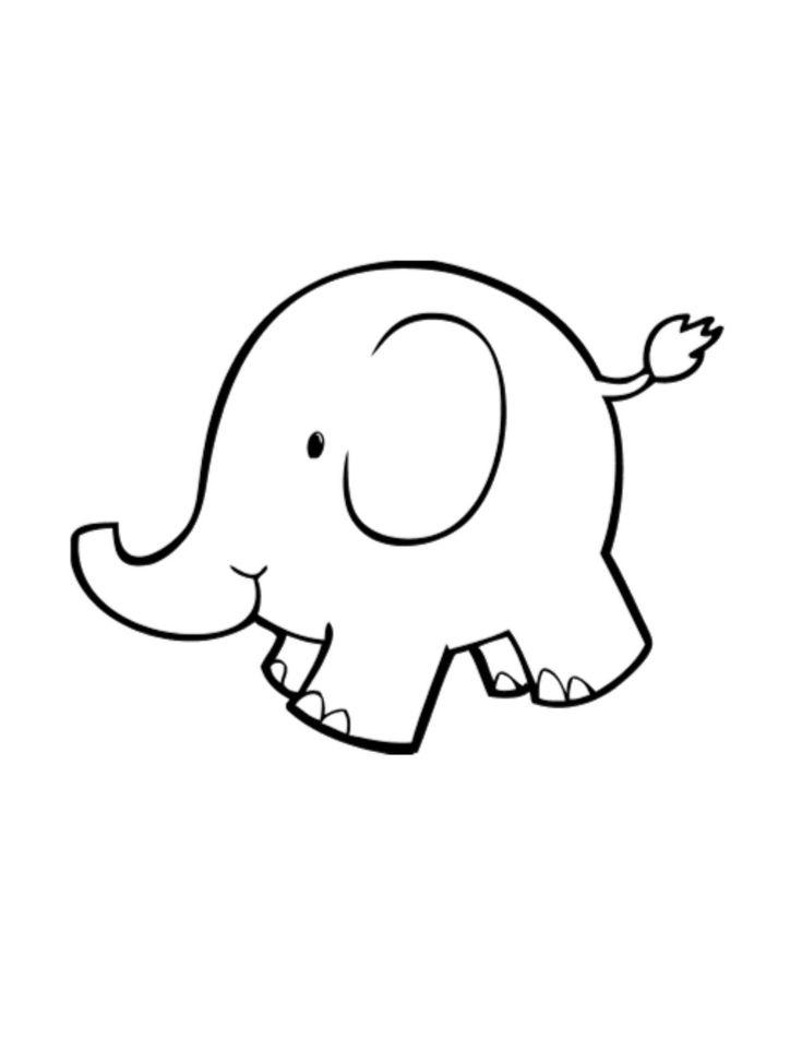clipart elephant outline - photo #29