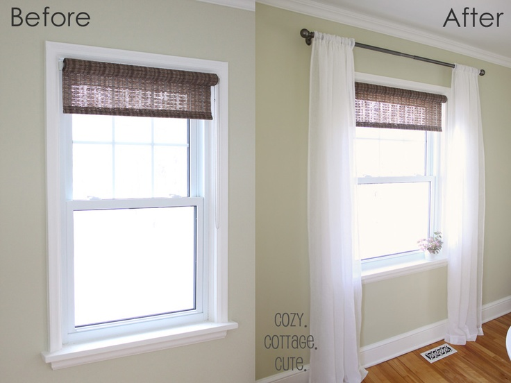 Cozy.Cottage.Cute.: White Linen Curtains Finally-Inally Up: White Linen Curtains, White Linens, Window Clothing, Kitchen Ideas, Valance, Window Coverings, Curtains Finally Inally, Curtain Ideas