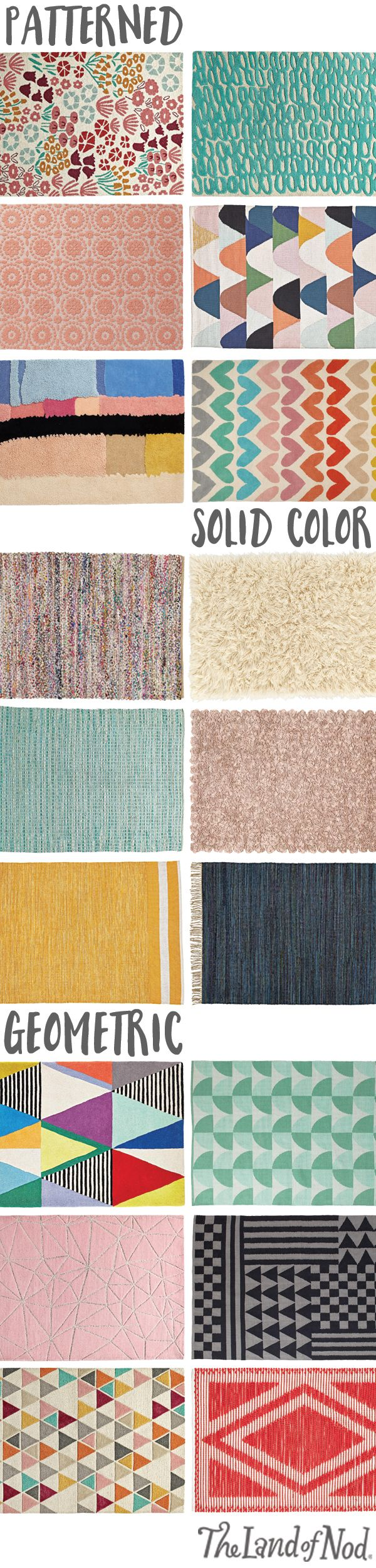 Looking for a rug to spruce up your kid's bedroom, playroom or nursery? You can count on The Land of Nod for stylish yet unexpected rugs for girls or boys. From carpet and play rugs to patterned and solid rugs, there's a style to suit your little one's room.