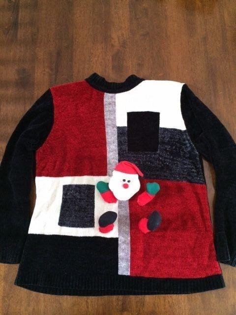 Women's Ugly Tacky Christmas Sweater Sz M - Maternity #AlfredDunner #Crewneck