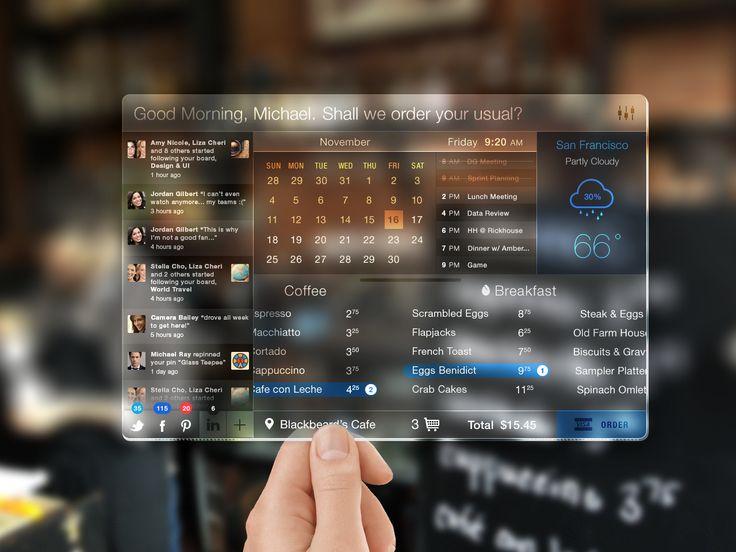 Glasspad dashboard concept... the future!