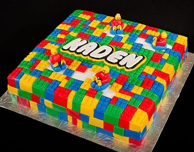 Kids Lego Cake Party Food Ideas