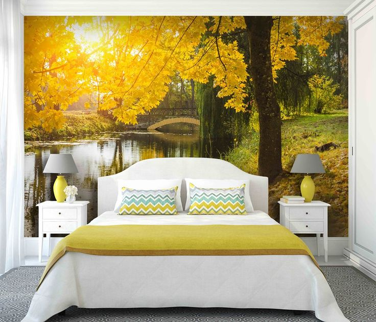 Dziś aranżacja sypialni w żółtej tonacji :-)  http://mural24.pl/konfiguracja-produktu/87566322/ #homedecor #fototapeta #obraz #aranżacjawnętrz #wystrójwnętrz, #decor #desing