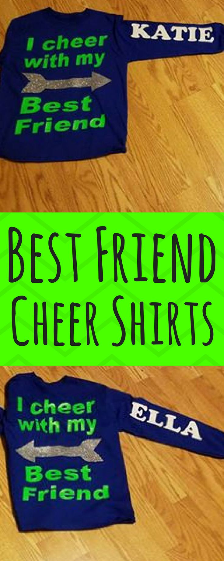 $20. I cheer with my best friend! Cheerleader, Cheerleading, Best Friend, Cheer Mom, Cheer Dad, Long Sleeved Shirt. #cheerleading #ad