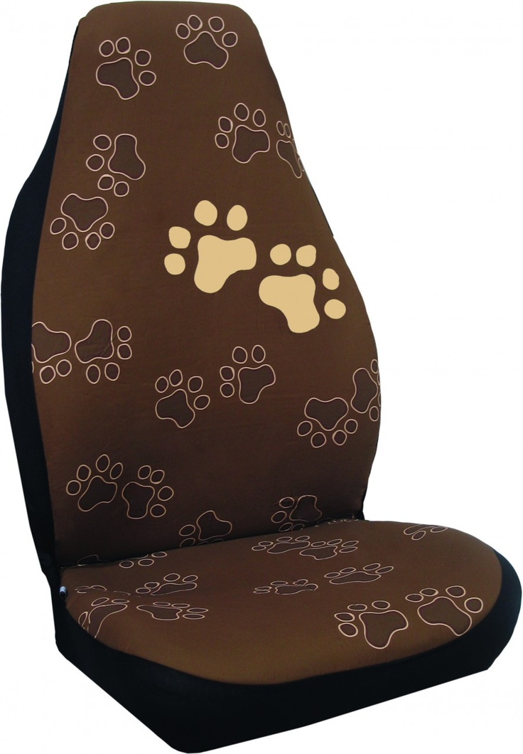 Paw Dog Print Bucket Car Seat Cover