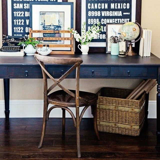 """""""Blogger @tidbitsandtwine shares easy ways to beautify your workspace. Read more on Discover, a blog by World Market. #DiscoverWorldMarket #HomeOffice"""""""