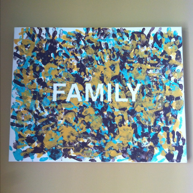 Hand print wall canvas with family handprints - tape first  handprint peal  dry & 38 best Camp kesem images on Pinterest | Learning School and ...