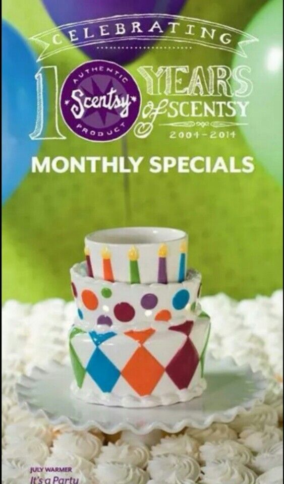 Scentsy July 2014 warmer of the month, it's a party!