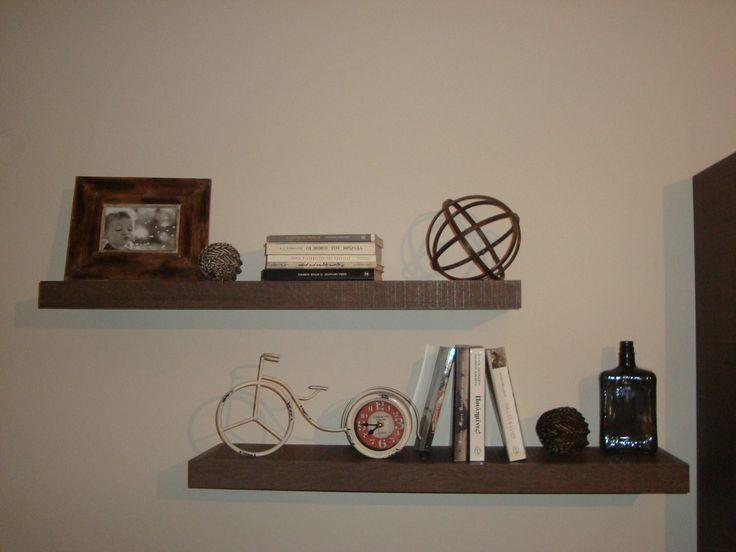 Floating shelves decoration