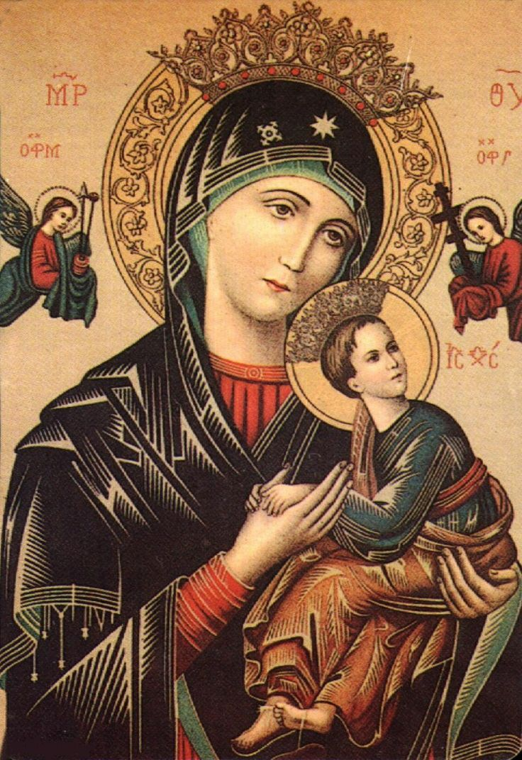 Mother of Perpetual Succour - St Michael on the Left and St Gabriel on the Right