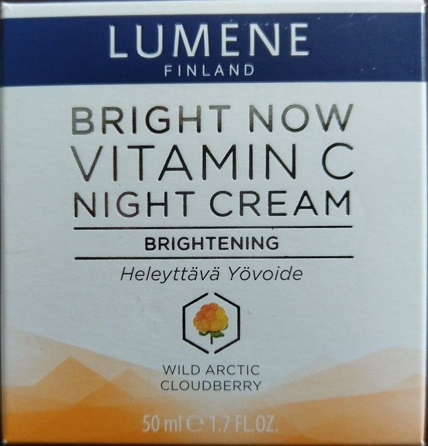 Lumene Bright Now Vitamin C Night Cream 1.7 oz Wild Arctic Cloudberry NEW SEALED #Lumene