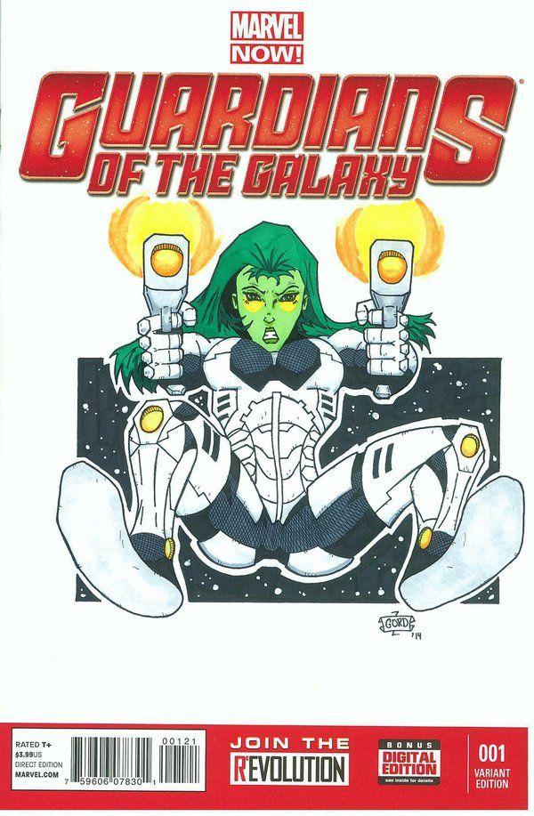 Gamora - Guardians of the Galaxy Variant-SOLD by gordzilla1971.deviantart.com on @DeviantArt