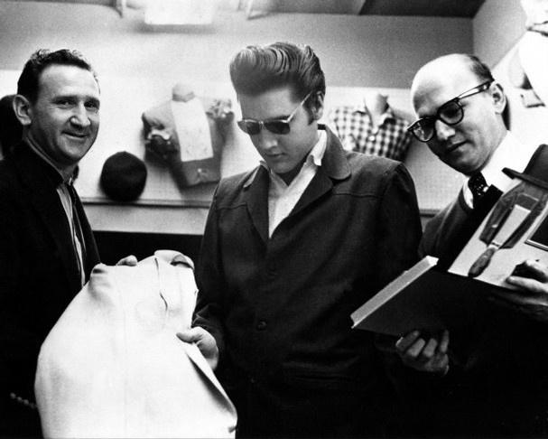 Bernard Lansky Left And Guy G Lansky Right With Elvis