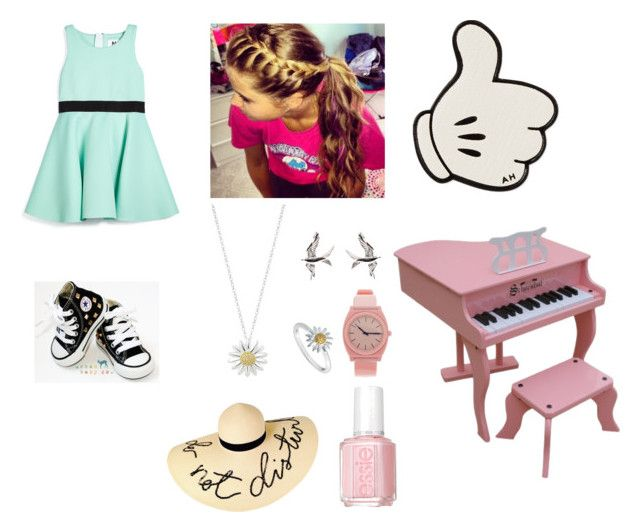 """A Cutie with a Talent"" by bluedestiny21 ❤ liked on Polyvore featuring Milly, Converse, Daisy Jewellery, Schoenhut, Anya Hindmarch, Nixon, Eugenia Kim and Essie"