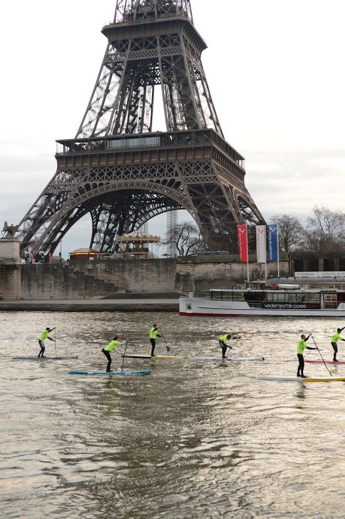 SUP race in Paris - December 2012 - NAUTIC
