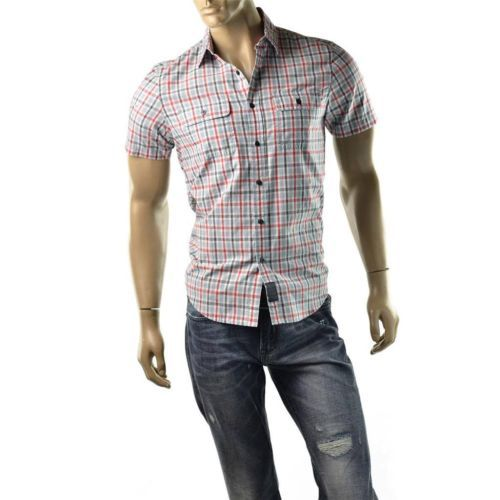 Calvin Klein Shirt Mens Button Up Plaid Utility T Shirts CK Jeans Size S NEW $54 | Get Dressed at http://ImageStudio714.com http://stores.ebay.com/ImageStudio714