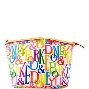Dooney & Bourke X-Large Cosmetic Case Make Up Bag Retro Print Multi Dooney & Bourke. $35.00