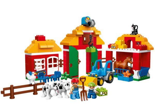 FERMA MARE LEGO DUPLO  Acest set Ferma mare cu modele construibile are tot ce trebuie pentru a trai viata de la ferma !
