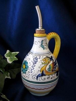 Italian Pottery Olive Oil Bottles And Pottery On Pinterest