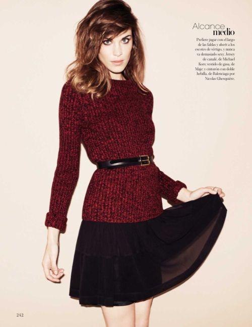 fashionising:    Alexa Chung #almostreadyforbeltedsweaters
