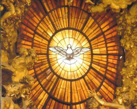 Alabaster-Pfingstfenster Petersdom, Rom