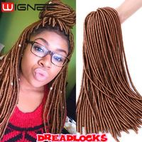 Synthetic Dreadlocks Extensions Crochet Braids Hair 20'' 100g Golden Blonde Color Faux Locs Synthetic Dread Locs Braiding Hair