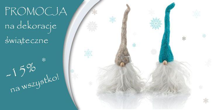 promocja - 15 % na dekoracje i ozdoby świąteczne