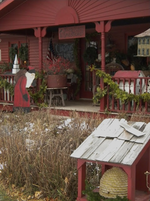 Love the red porch earthy comfy casual primitive for Country porch coupon code