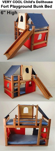 Children's Fort Playground Bunk Bed -  (Cheryl Howe had trouble buying artisan pieces through this vendor - poor communication)