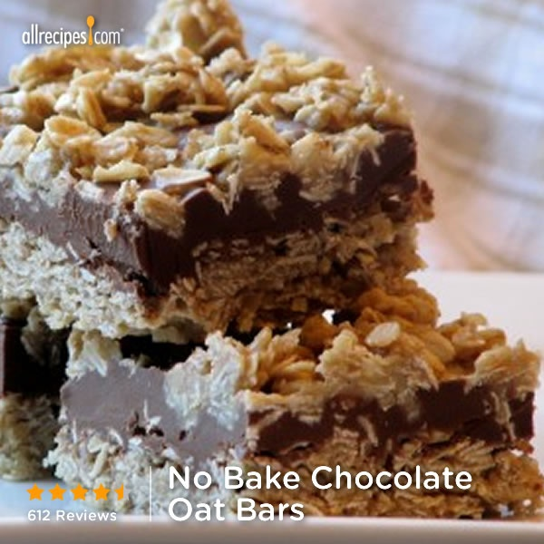 "No Bake Chocolate Oat Bars | ""My kids love these! They are requested ..."