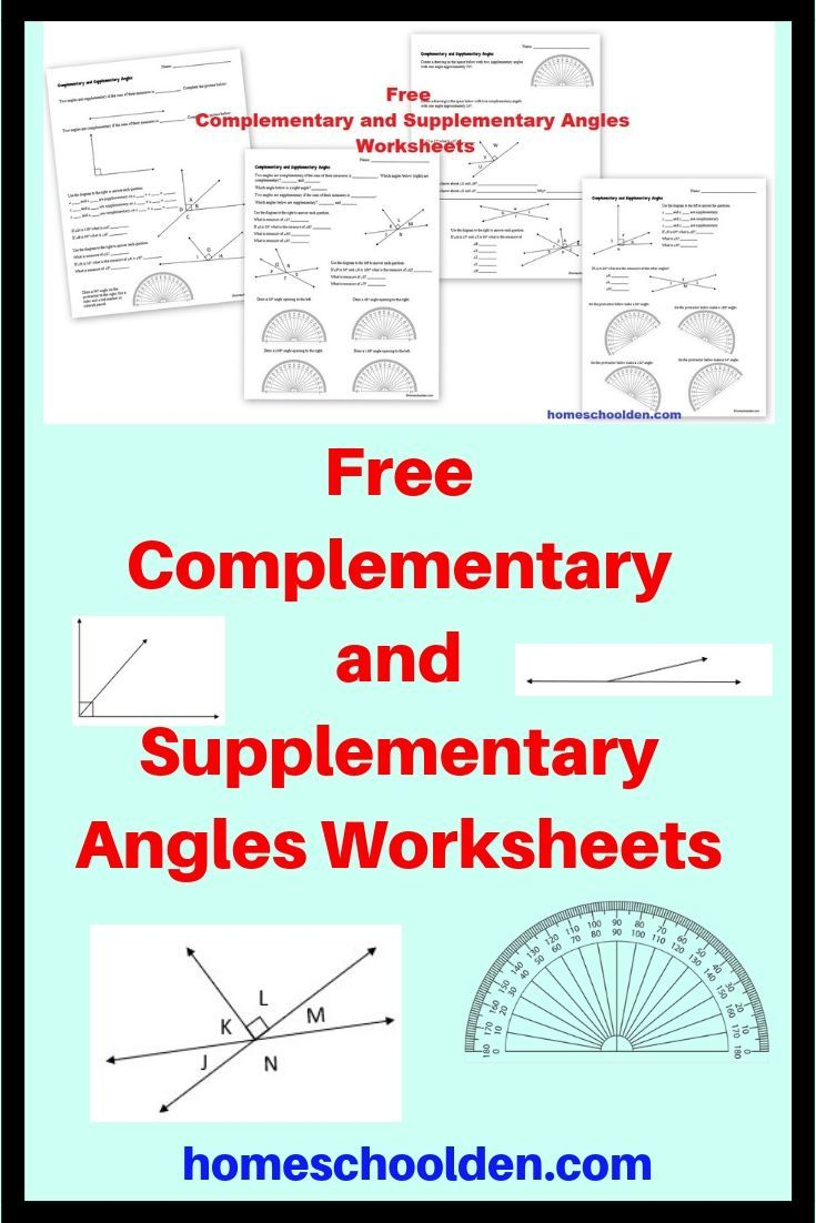 Free Complementary And Supplementary Angles Worksheets These Free Math Worksheets Are About Compleme Angles Worksheet Supplementary Angles Free Math Worksheets [ 1102 x 735 Pixel ]