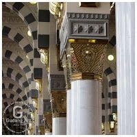Kerajinan Pilar masjid nabawi kuningan