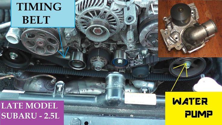 Subaru Timing Belt Water Pump Thermostat Replacement
