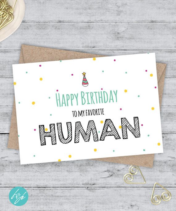 Funny Birthday Card Boyfriend Birthday Funny Card  - Happy Birthday to my favorite Human