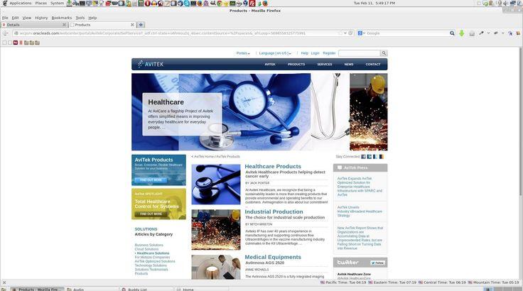 1. Avitek Corporate Webcenter Portal
