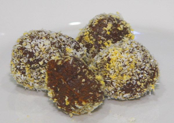 The most amazing chocolaty, chewy energy balls ever!! Can't stop eating  them until they are gone. No cook, super easy to mske too!