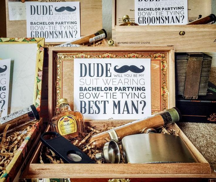 Classic will you be my groomsmanbest man gift box in