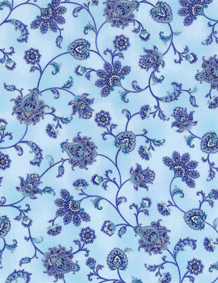 Timeless Treasures - Dutchess Dutchess-CM5229-Mist Floral Scrol