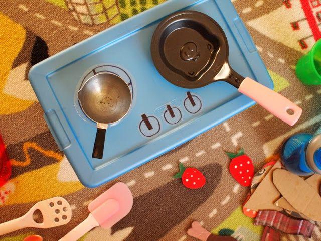Pink Stripey Socks: DIY Kids' Portable Stove top