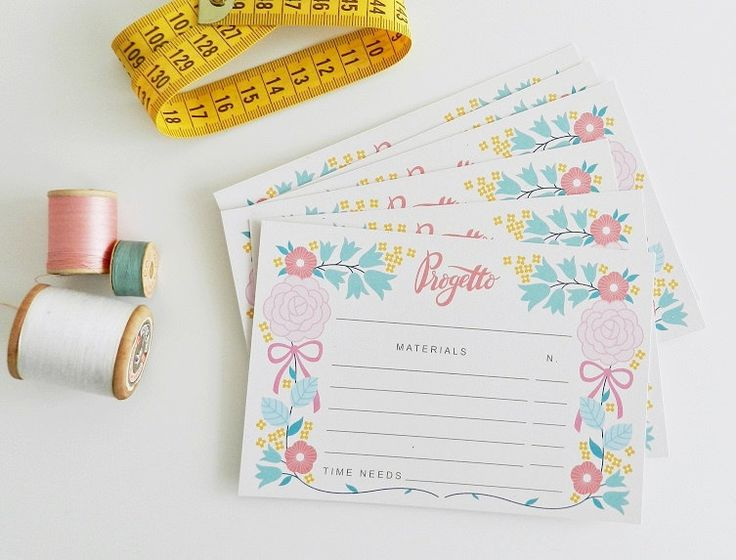 Un preferito personale dal mio negozio Etsy https://www.etsy.com/listing/253056192/projects-cards-set-of-10-craft-room-made