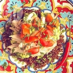 Chicken Quinoa Salad with Avocado Dressing @ allrecipes.com.au