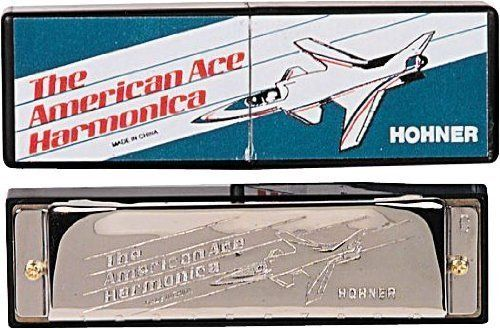 "Hohner American Ace Harmonica Key of G by Hohner. $9.29. Hohner's diatonic harmonicas set the industry standard through their high quality construction, excellent response and unsurpassed tone. Often called ""Blues Harps"", they have been a fixture as melody and accompaniment instruments in blues, rock, country, and folk bands, as well as many other styles of music and musical ensembles.  Richter tuning and undivided air channels allow for bending and overblowing the r..."