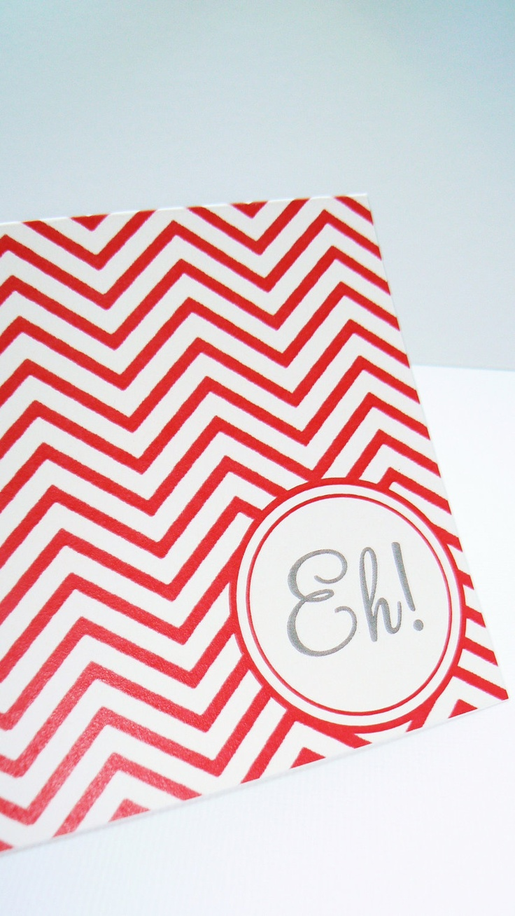 Canada Day Special - Fun Chevron Personalized Note Card