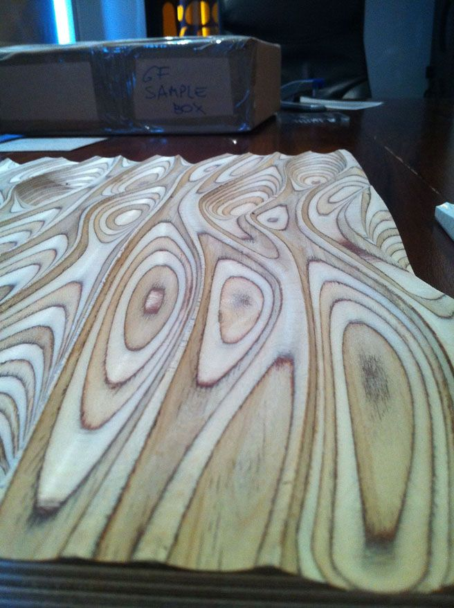 This milled plywood looks so cool, though I don't know how it wood (haha) be used!