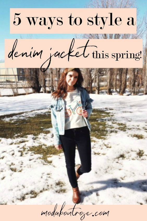 How to wear a denim jacket this spring. 5 Ways to style a denim jacket. Tips for styling a denim jacket