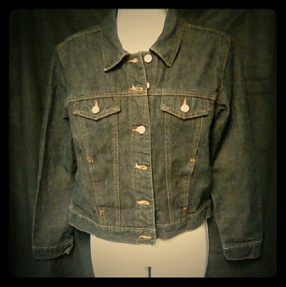 Old Navy Dark Blue Jean Jacket This is a dark blue jean jacket with pockets. Old Navy Jackets & Coats Jean Jackets