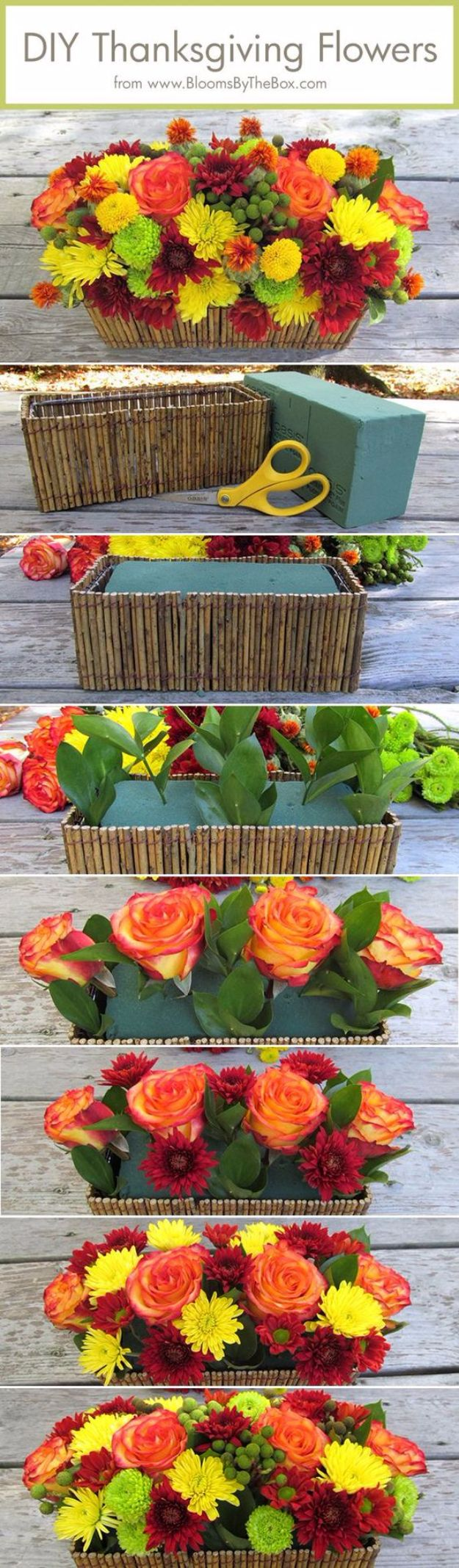 DIY Thanksgiving Decor Ideas - DIY Thanksgiving Flowers - Fall Projects and Crafts for Thanksgiving Dinner Centerpieces, Vases, Arrangements With Leaves and Pumpkins - Easy and Cheap Crafts to Make for Home Decor http://diyjoy.com/diy-thanksgiving-decor-ideas