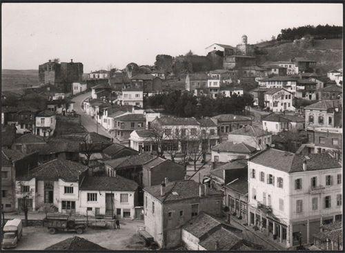 Vintage photo with View of Didimotichon,Greek Town at Thraki .