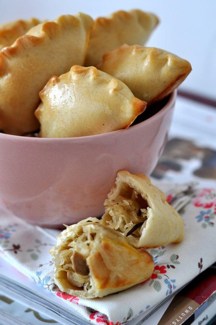 pies with cabbage and mushrooms - paszteciki z kapustą i grzybami