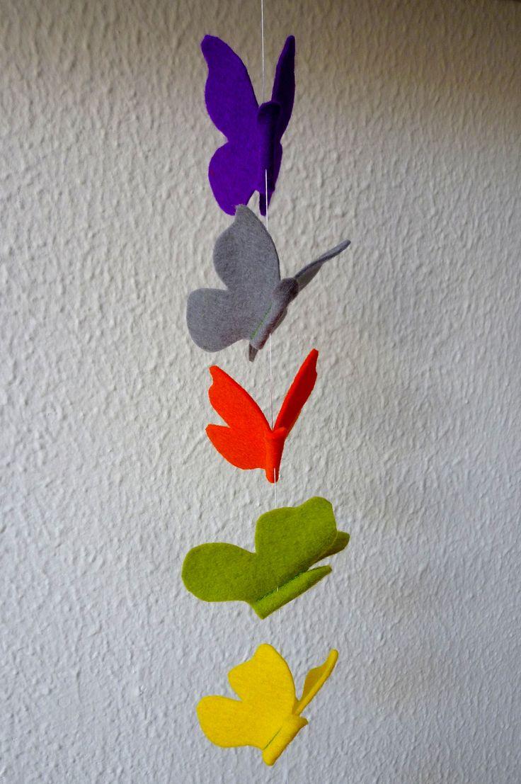 Homemade: Butterfly of felt / Vlinders van vilt